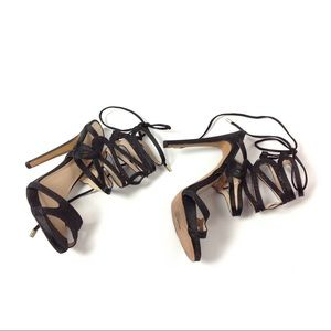 Bebe Womens Ankle Strappy Stiletto Sandals Heels 6